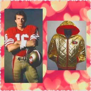 NFL Team Women's SF 49er Puffer Jacket w/ Hoodie